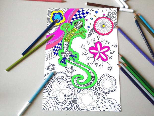 Gecko Lizard coloring page
